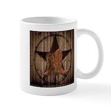 cowboy boots texas star Mugs