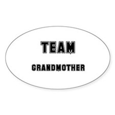 TEAM GRANDMOTHER Oval Decal