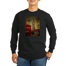 vintage London UK fashion Long Sleeve T-Shirt