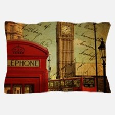 Cute Vintage london Pillow Case