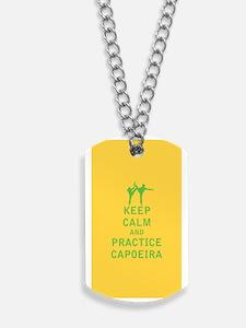 Keep Calm and Practice Capoeira Dog Tags