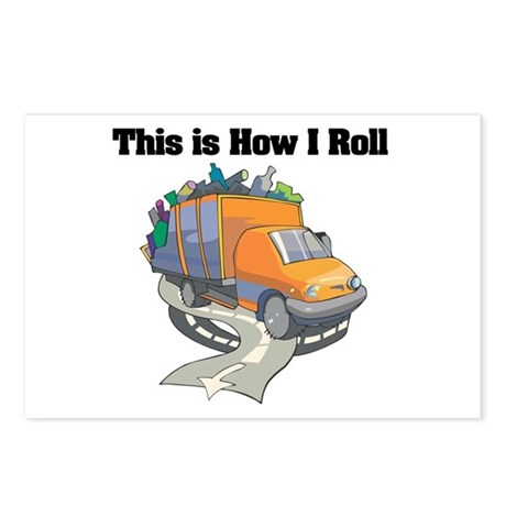 How I Roll (Garbage Truck) Postcards (Package of 8