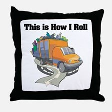 How I Roll (Garbage Truck) Throw Pillow