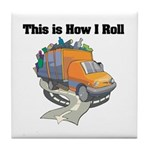 How I Roll (Garbage Truck) Tile Coaster