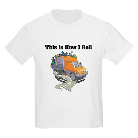 How I Roll (Garbage Truck) Kids Light T-Shirt