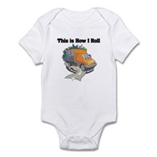 How I Roll (Garbage Truck) Infant Bodysuit