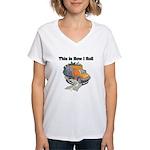 How I Roll (Garbage Truck) Women's V-Neck T-Shirt