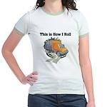 How I Roll (Garbage Truck) Jr. Ringer T-Shirt