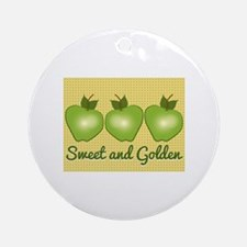 Sweet and Golden Ornament (Round)