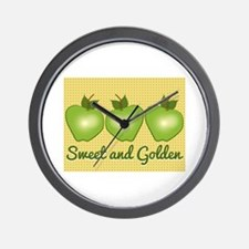 Sweet and Golden Wall Clock