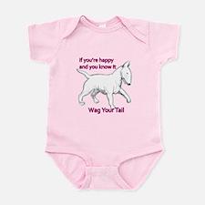 bull terrier wag your tail Infant Bodysuit