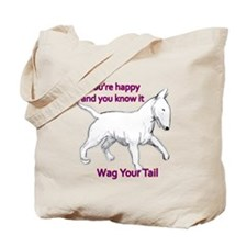 bull terrier wag your tail Tote Bag