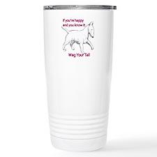 bull terrier wag your t Travel Mug