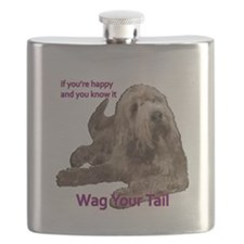 Otterhound wag your tail Flask