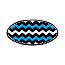 Black Blue And White Chevron Patches