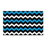 3x5 blue 2c black chevron 3x5 Rugs