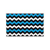 3x5 blue 2c black chevron 3x5 Rugs