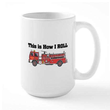 How I Roll (Fire Engine/Truck) Large Mug