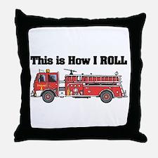 How I Roll (Fire Engine/Truck) Throw Pillow