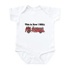 How I Roll (Fire Engine/Truck) Infant Bodysuit
