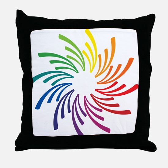 Cool Primary colors Throw Pillow