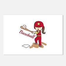 Baseball Girl Postcards (Package of 8)