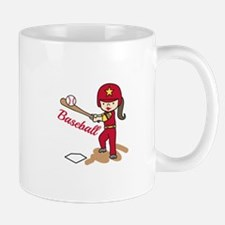 Baseball Girl Mugs