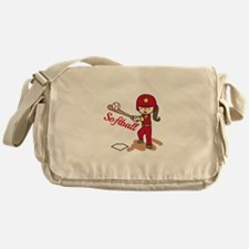 Softball Girl Messenger Bag