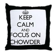 Cute Love chowder Throw Pillow