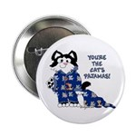 "Cartoon cat 2.25"" Button (10 pack)"