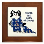 Cartoon cat Framed Tile