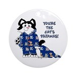 Cartoon cat Ornament (Round)