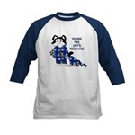 Cartoon cat Kids Baseball Jersey