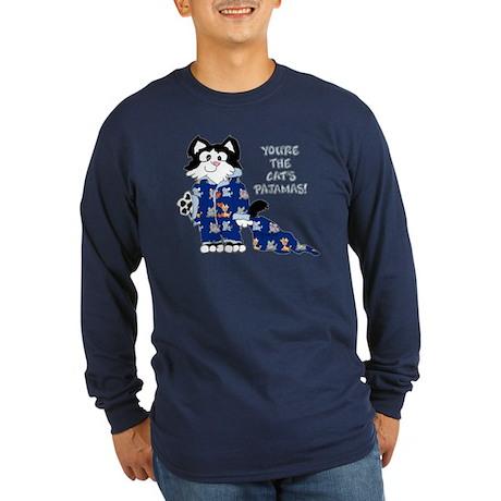 Cartoon cat Long Sleeve Dark T-Shirt