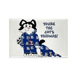 Cartoon cat Rectangle Magnet (10 pack)