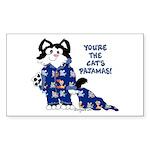 Cartoon cat Rectangle Sticker