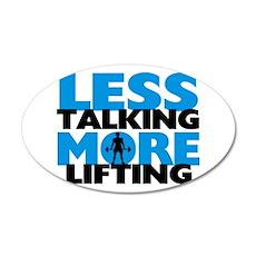 Less Talking More Lifting Wall Decal