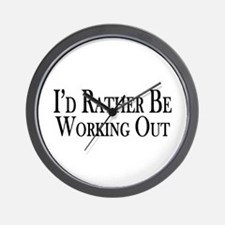 Rather Be Working Out Wall Clock