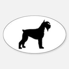 Schnauzer Dog Oval Decal