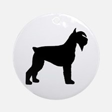 Schnauzer Dog Ornament (Round)
