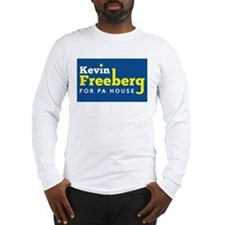 Kevin Freeberg White/Yellow on Blue Long Sleeve T-