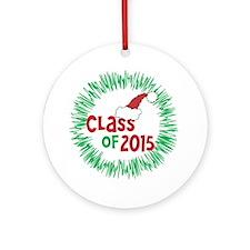 Class Of 2015 Festive Christmas Ornament (Round)