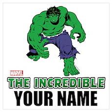 Personalized Incredible Hulk Wall Art Poster