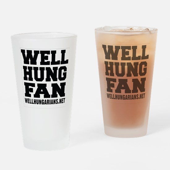 Well Hung Fan Drinking Glass