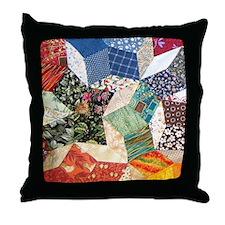 Tumbling Blocks Patchwork Quilt Throw Pillow