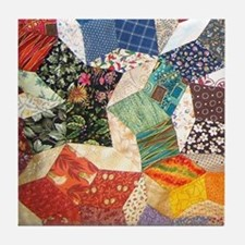 Tumbling Blocks Patchwork Quilt Tile Coaster