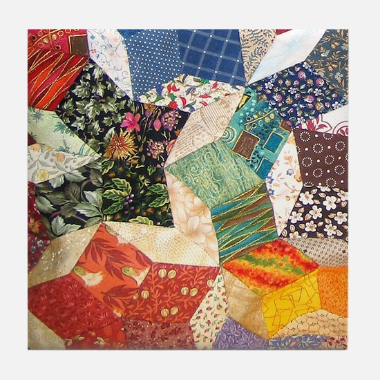 Tumbling Blocks Patchwork Quilt Tile Coaster