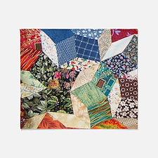 Tumbling Blocks Patchwork Quilt Throw Blanket