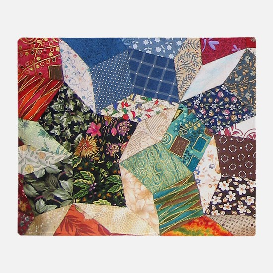 Tumbling Blocks Patchwork Quilt Throw Blanket