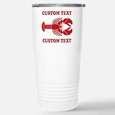 CUSTOM TEXT Lobster Stainless Steel Travel Mug